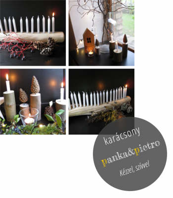 panka&pietro adventi kalendárium karácsonyi dekoráció kézzel készült